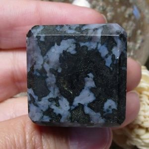Indigo Gabbro Cube (#2) Gemstone Crystal Decor